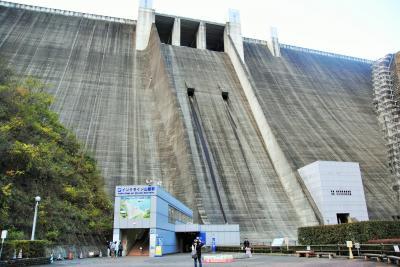 堤高 156.0 m 堤頂長 375.0 m 日本最大級のダムです。