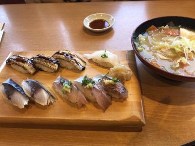 ソーシャルディスタンスでお寿司