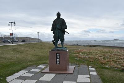 宗谷岬に立っています