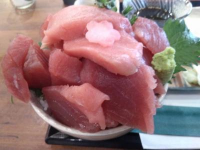 三崎のマグロがリーズナブルに味わうことができました