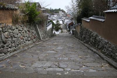 かつて杵築藩士が登城のために通った坂です。