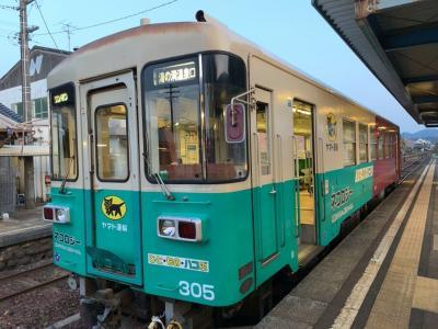 一両編成のローカル列車ですが、色々なラッピング列車があって楽しい!