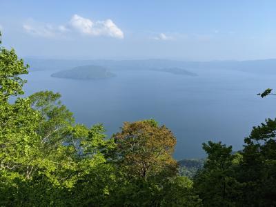 十和田湖を一望