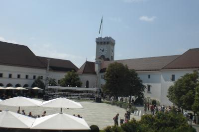 リュブリアナの市街地を一望できました。