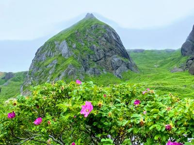 桃岩と猫岩を展望できます。