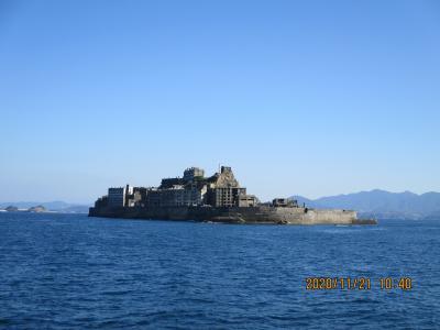 軍艦島への上陸