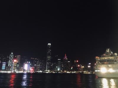 ビクトリアハーバーの夜景も綺麗