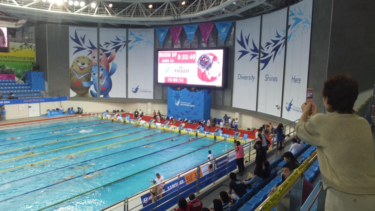 文鶴パクテファンプール場Munhak Park Tae-hwan Aquatics Center(SW)