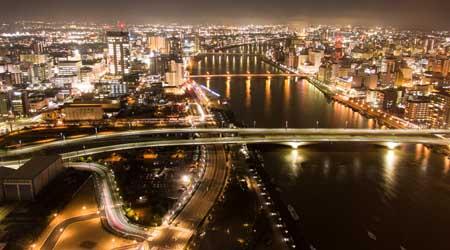 歴史ある街、新潟+夜景撮り