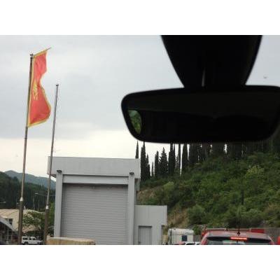モンテネグロ・パスポートコントロール手前