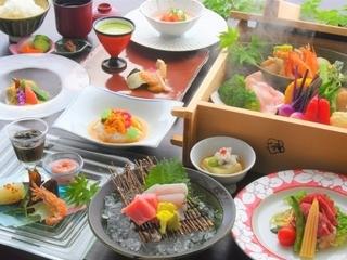 おひとり様最大2000円割引!2種の温泉と和の創作料理