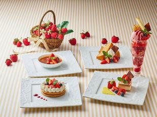 5種類から選べるストロベリーデザートでホテル女子会を満喫♪ 写真