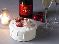 【クリスマス】パティシエ特製ケーキとスパークリングワイン付き