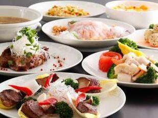 2食付プラン 夕食は地元徳島の食材を使ったコース料理 写真