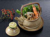 秋の味覚松茸土瓶蒸し・京野菜・国産牛ステーキを味わう