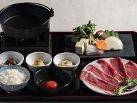 【夕食】こだわり満載、山楽で贅沢◎近江牛のすき焼き御膳付き