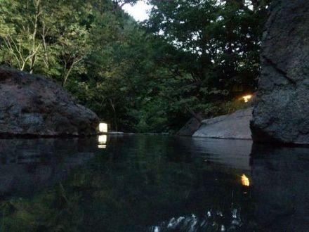 松川渓谷温泉滝の湯 写真