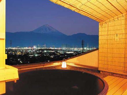 甲府の夜景を独占する温泉 11種類の風呂 ホテル神の湯温泉 写真