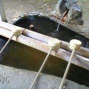 温泉の手水舎で飲泉可!