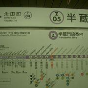 半蔵門駅のつぎは、永田町です