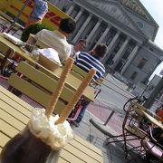シュパーテンハウスでアイスカフェ…いいお値段します