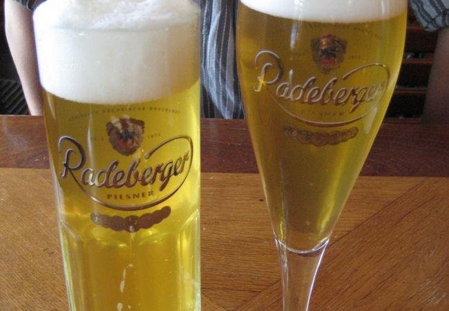 ドレスデンでランチを♪(Radeberger Spezialauss)