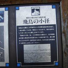 歴史の散歩道の案内板