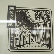 七夕とケヤキ並木の名所は阿佐ヶ谷駅、駅スタンプの巻