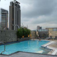 屋上のプール。