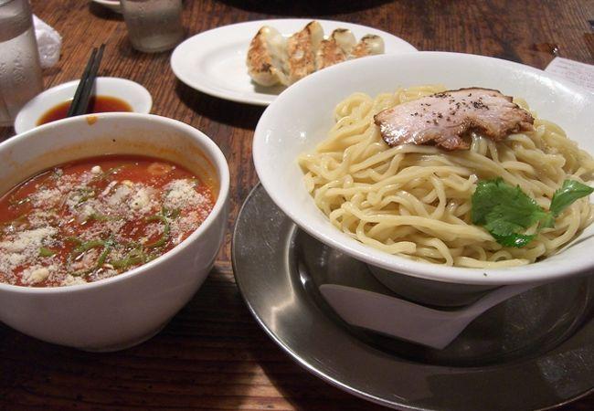 ちゃーしゅうが美味しいラーメン屋さんながら、夏季限定冷製トマトつけ麺はいまひとつでした。