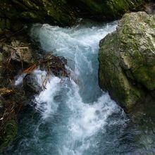 途中、小さな滝が次々に現れます