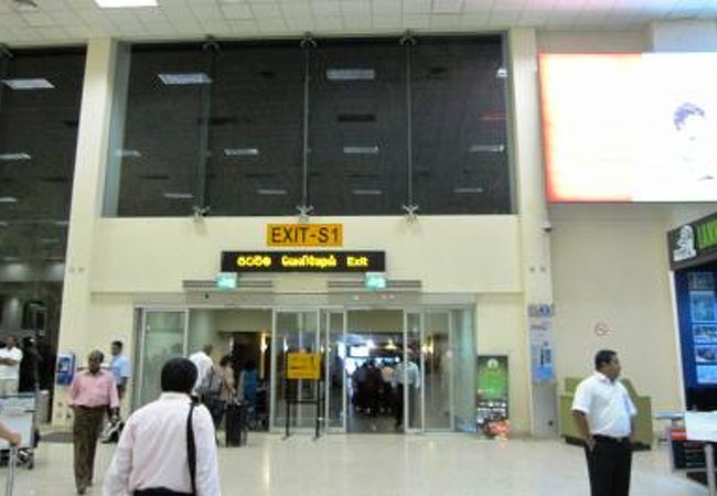 到着ターミナルの光景です。