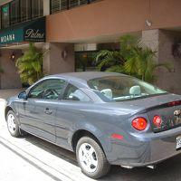 ホテル前に車を一旦駐車。