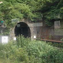 これがトンネルです。よくこんな所に駅があるものです…。