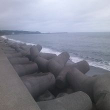 登別駅方面に向かう海岸道路