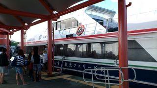 石垣島から西表島へ 上原港行き休航のため大原港行きに乗りました