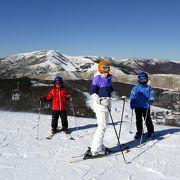 白樺湖ロイヤルヒルスキー場は初級~中級者には滑りやすいスキー場です