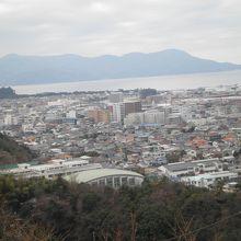 香陵台からの眺め