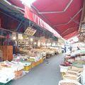 海産物と干物中心の市場