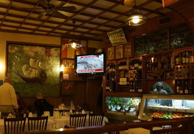 クムカプ近くのシーフードレストラン