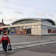 タリン近郊列車と長距離列車のターミナル