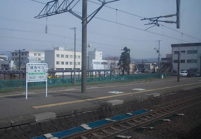 実はこちらが登別市の中心駅です