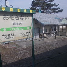 ホームと駅舎の様子