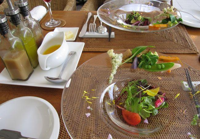 テラス席が気持ちいい!魅せる料理☆ウェディングのシェフが手掛ける平日のみのレストラン