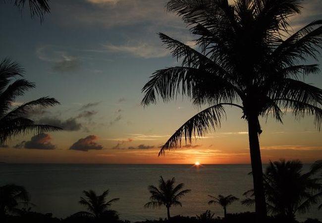 ムーンビーチの夕焼け