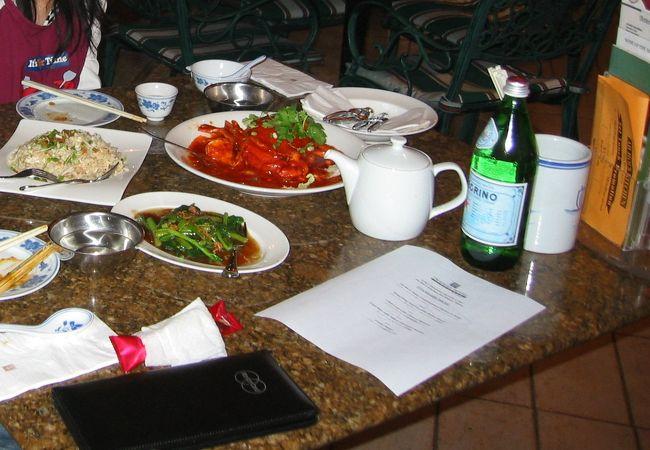 上海蟹のチリソース美味しかった