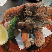 蔵を改装した美観地区近くの和食店で珍しい穴シャコの唐揚げや返し寿司を食べよう