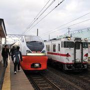 北海道と三厩方面への乗換駅