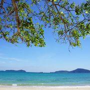 のんびり滞在できるビーチ