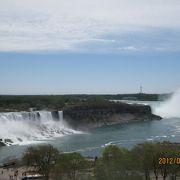 迫力のナイアガラ瀑布をアメリカ滝とカナダ滝に分ける島
